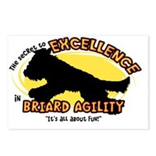 briard_excellence_oval Postcards (Package of 8)