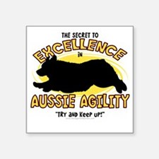 "australianshep_excellence Square Sticker 3"" x 3"""