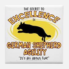 germanshepherd_excellence Tile Coaster