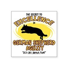 "germanshepherd_excellence Square Sticker 3"" x 3"""