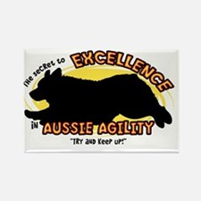 australianshep_excellence_oval Rectangle Magnet