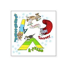 """agilityfun Square Sticker 3"""" x 3"""""""