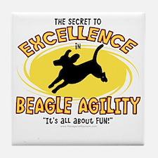 beagle_excellence Tile Coaster