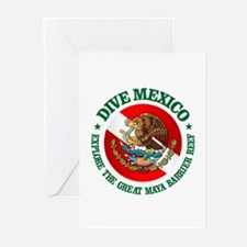 Dive Mexico (rd) Greeting Cards (Pk of 10)