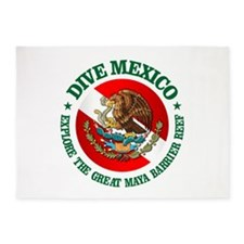 Dive Mexico (rd) 5'x7'Area Rug