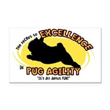 pug_excellence_oval Rectangle Car Magnet