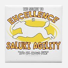 saluki_excellence_blk Tile Coaster