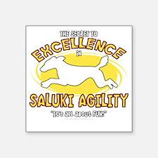 """saluki_excellence_blk Square Sticker 3"""" x 3"""""""