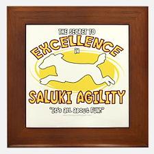 saluki_excellence_blk Framed Tile
