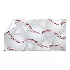 Baseballs Beach Towel