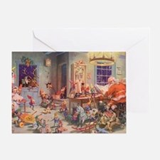 Vintage Christmas Santa Claus Greeting Card