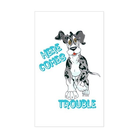 MtlMrl Trouble Pup Rectangle Sticker