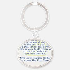 herecomethe_wirefox Oval Keychain