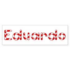 Eduardo - Candy Cane Bumper Bumper Bumper Sticker