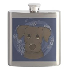 2-choclab_ornament Flask