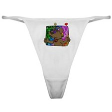 hippie_choclab_blk Classic Thong