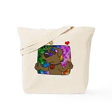 hippie_choclab_blk Tote Bag