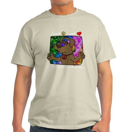 hippie_choclab_blk Light T-Shirt