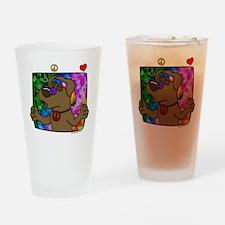 hippie_choclab_blk Drinking Glass