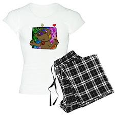 hippie_choclab_blk Pajamas