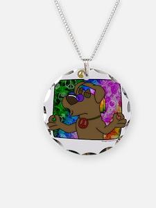 hippie_choclab_blk Necklace