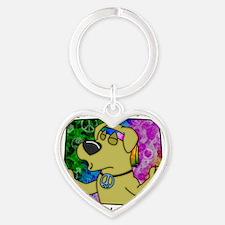 hippie_yellowlab Heart Keychain