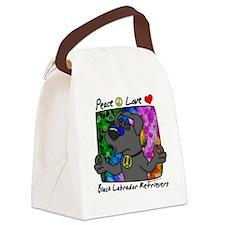 hippie_blacklab Canvas Lunch Bag