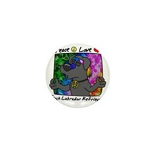 hippie_blacklab Mini Button