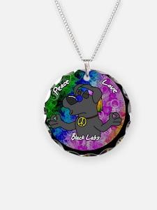 hippie_blacklab_ornament Necklace