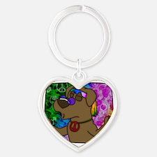 hippie_choclab Heart Keychain