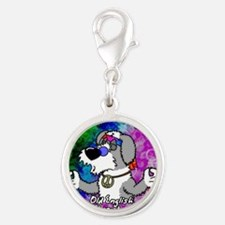hippie_oes_ornament Silver Round Charm