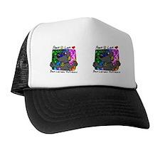 2-hippie_blacklab_mug Trucker Hat