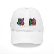 hippie_choclab_mug Baseball Cap