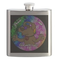 hippie_choclab_ornament Flask