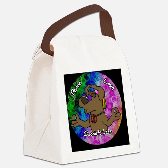 hippie_choclab_ornament Canvas Lunch Bag