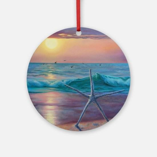 ocean embrace Round Ornament