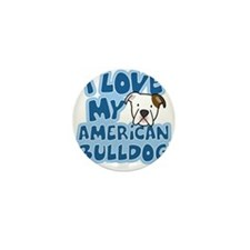 americanbulldog_animelove_ornament Mini Button