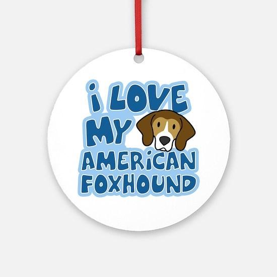 americanfoxhound_animelove Round Ornament