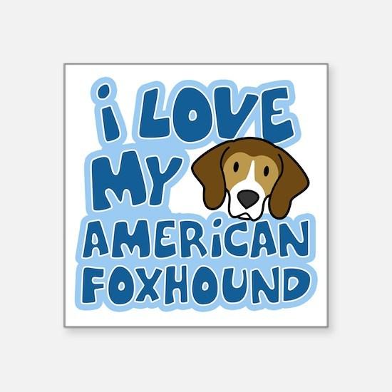 "americanfoxhound_animelove Square Sticker 3"" x 3"""