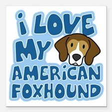 "americanfoxhound_animelo Square Car Magnet 3"" x 3"""