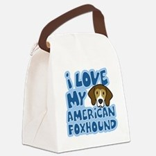 americanfoxhound_animelove Canvas Lunch Bag
