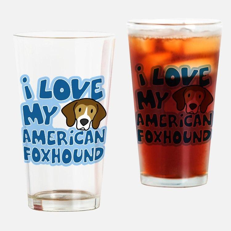americanfoxhound_animelove Drinking Glass