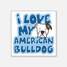 "americanbulldog_animelove Square Sticker 3"" x 3"""