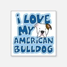 "americanbulldog_animelove Square Sticker 3"" x 3"""
