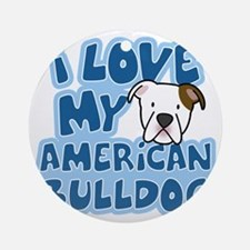 americanbulldog_animelove Round Ornament
