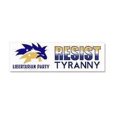 Resist Tyranny Car Magnet 10 x 3
