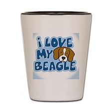 beagle_animelove_ornament Shot Glass