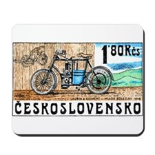 1975 Czech Laurin & Klement Motorcycle Stamp Mouse