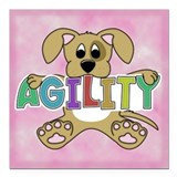 Dog agility Square Car Magnets