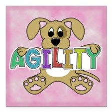 "supercuteagility_tile Square Car Magnet 3"" x 3"""